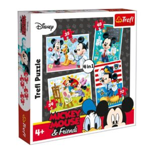 Set 4 Puzzle Disney Mickey Mouse