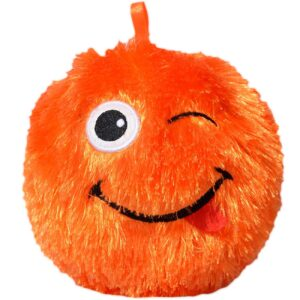 Perna decorativa bila pufoasa smiley orange 15 cm
